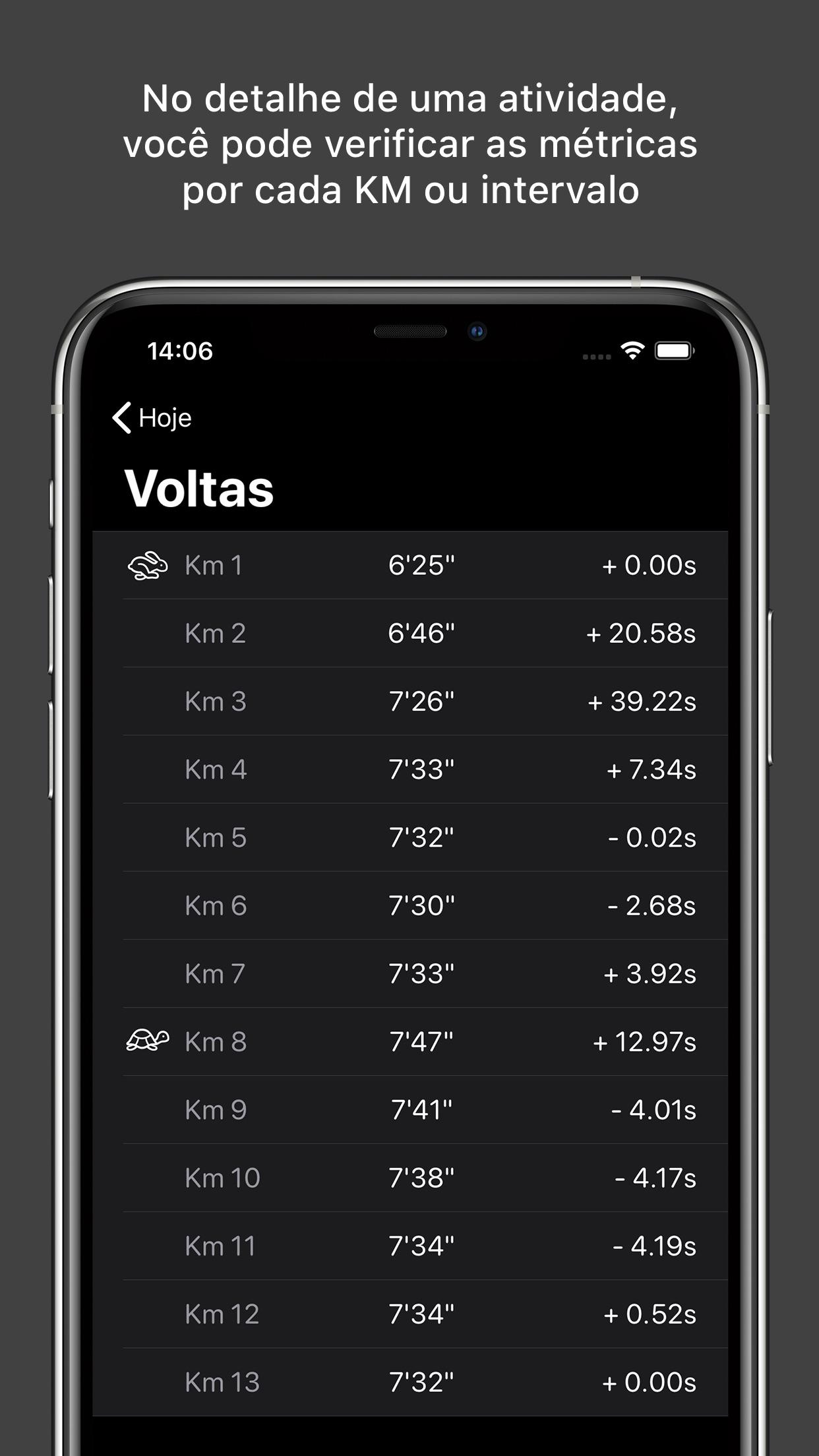 Screenshot do app RunIn - Treino Intervalado