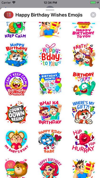Happy Birthday Wishes Emojis screenshot-8
