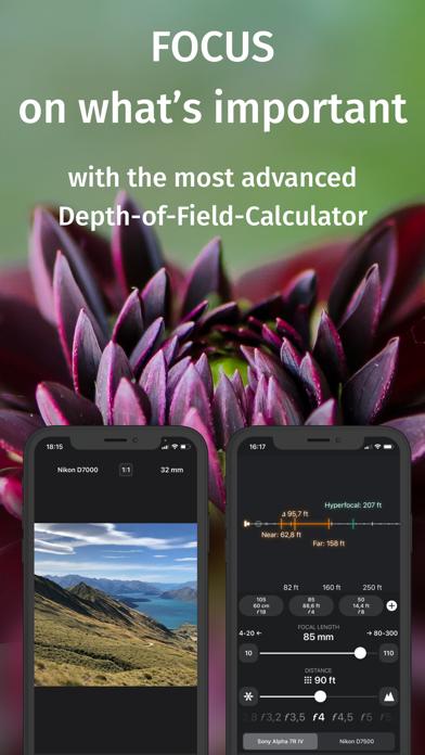 FF: Depth of Field Calculator Screenshots