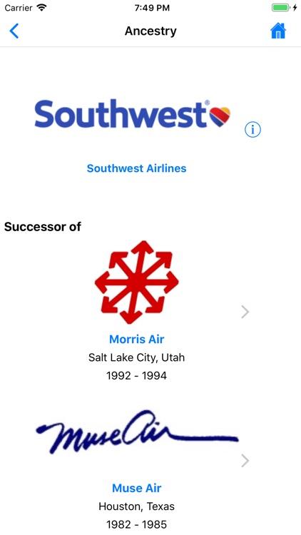 U.S. Airlines, Past & Present