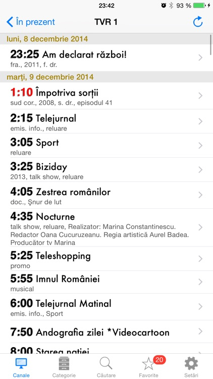 Romanian TV Schedule screenshot-1