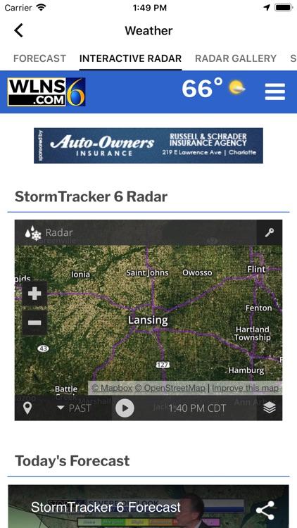 WLNS TV 6 Lansing - Jackson screenshot-4