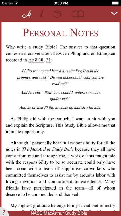 NASB MacArthur Study Bible screenshot-0