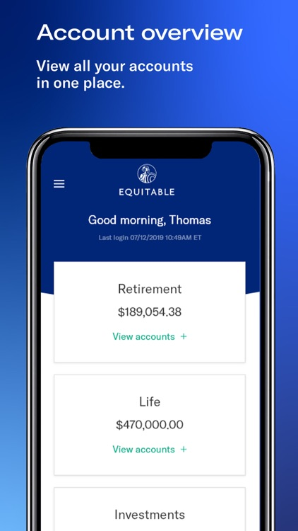 Equitable Mobile App