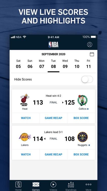 NBA: Live Games & Scores screenshot-4