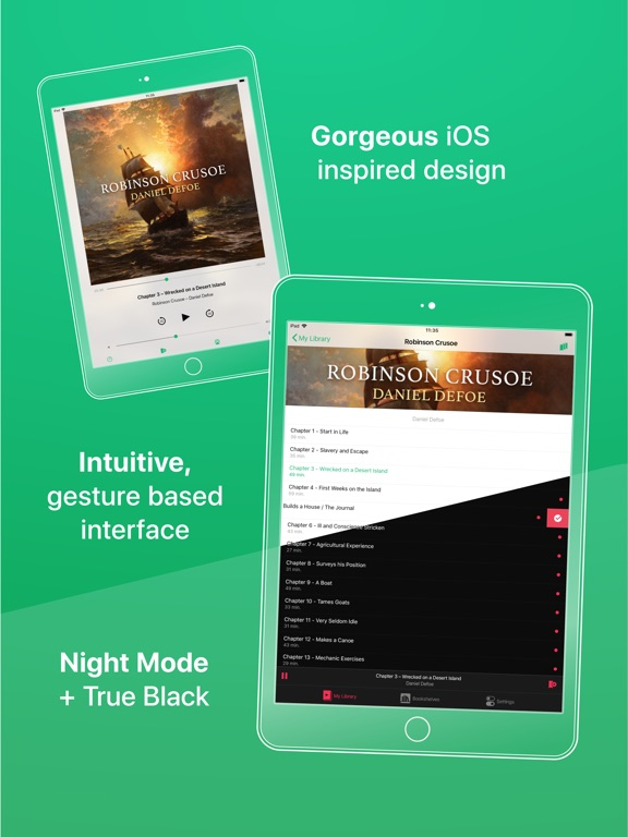 GreenLit Audiobook Player Screenshots