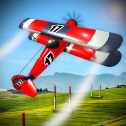 Flying Jet Airplane Stunt