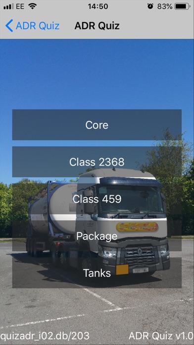 Screenshot for ADR Quiz Dangerous Goods in Lebanon App Store