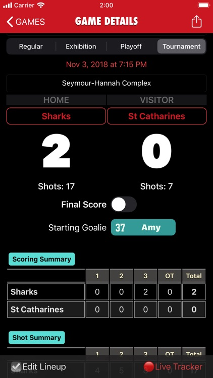 Goaliath Hockey Stats Tracker screenshot-6