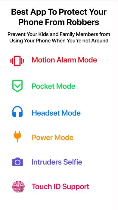 Security Alarm - AntiTheft Pro screenshot 1