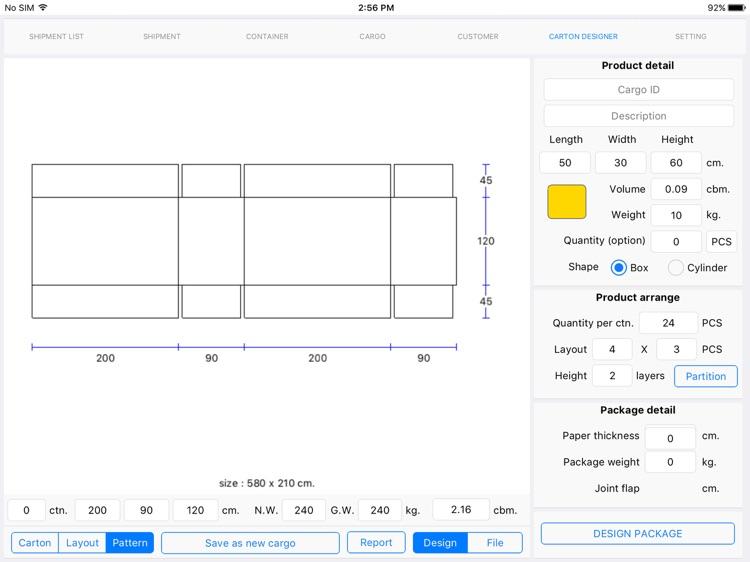 Cargo Optimizer Max for iPad