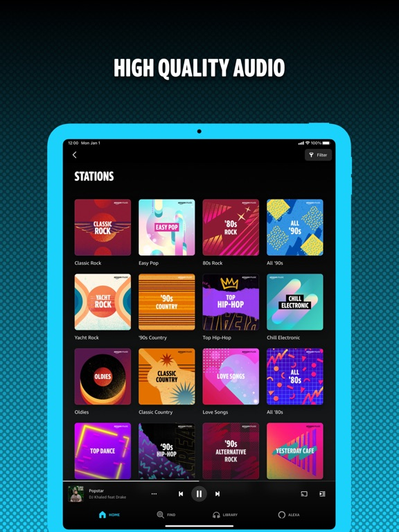 iPad Image of Amazon Music: Songs & Podcasts