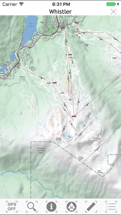 Whistler Area Ski Maps