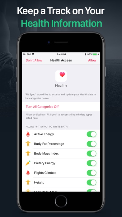 Screenshot for Fit Sync - Fitbit to Health in Peru App Store