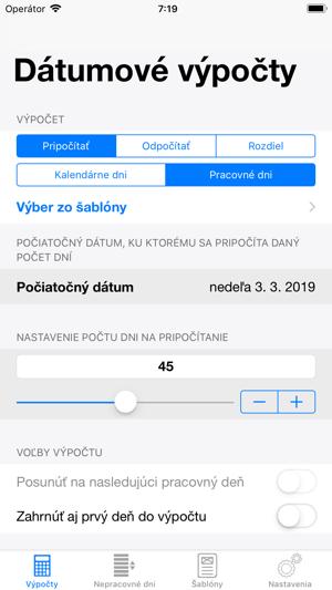 IPhone Apps pre dátumové údaje