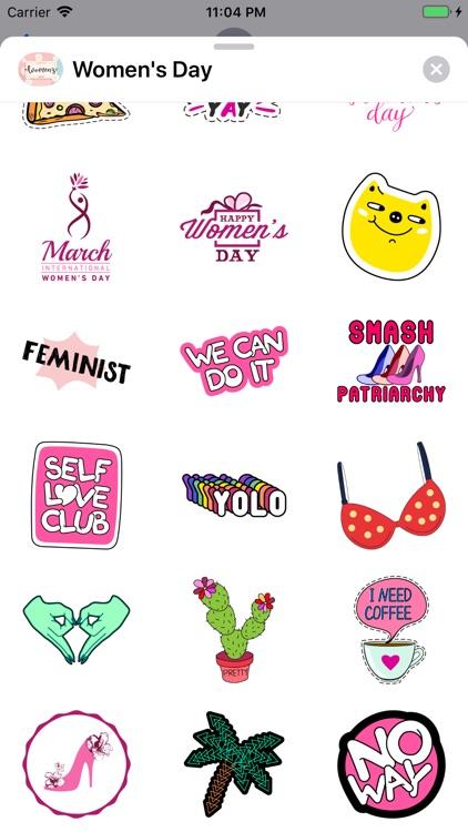 Women's Day Feminism Stickers screenshot-3