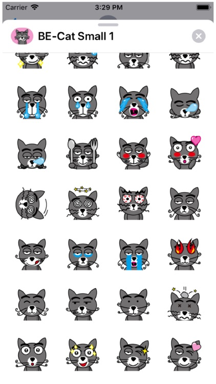 BE-Cat Small 1 Stickers
