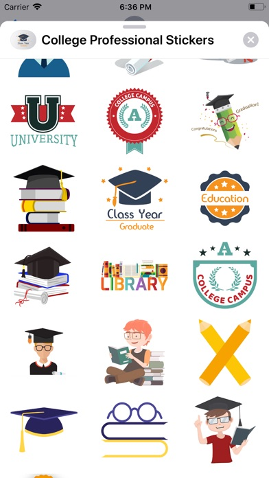 College Professional Stickers app image
