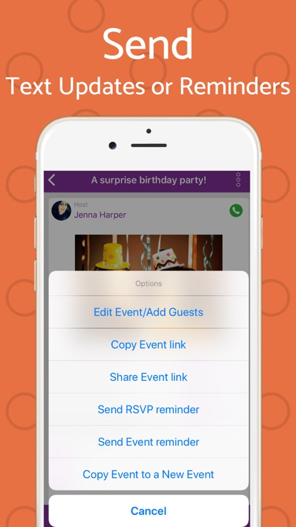 Text Invite Maker: PurpleSlate screenshot-5