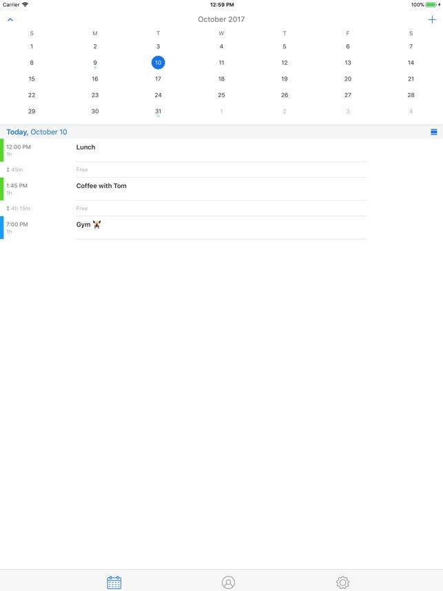 Kalender · Screenshot