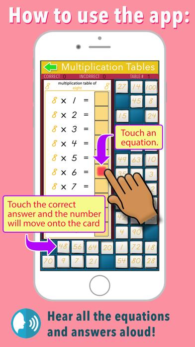 Multiplication Tables - Math screenshot 2