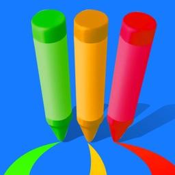 Color Runner 3D - Pencil Roll