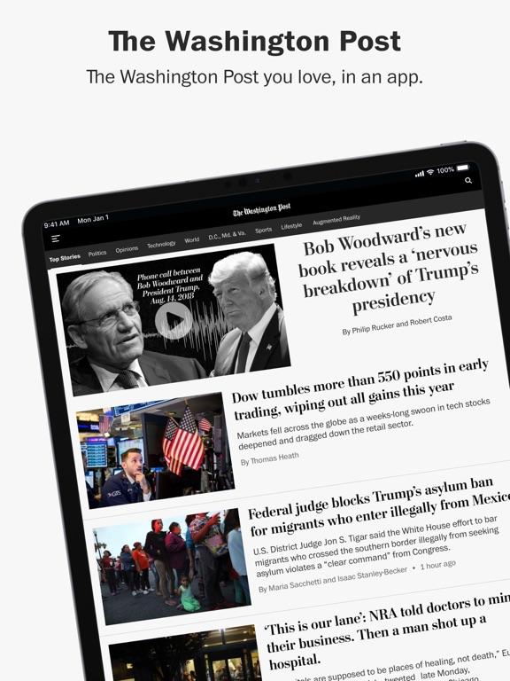 Washington Post Classic for iPhone screenshot