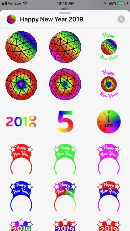 New Year 2019 Sticker Pack