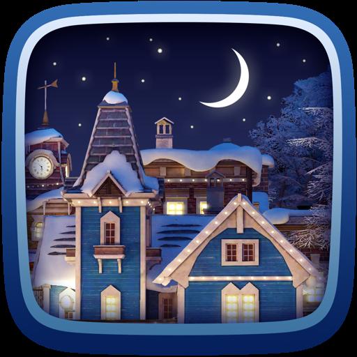 Зимний городок 3D