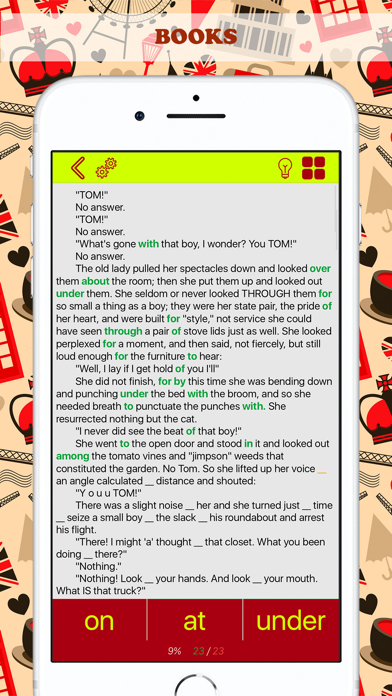 English Prepositions:Exercises Screenshots