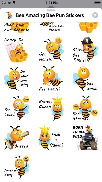 Bee Amazing Bee Pun Stickers screenshot-5