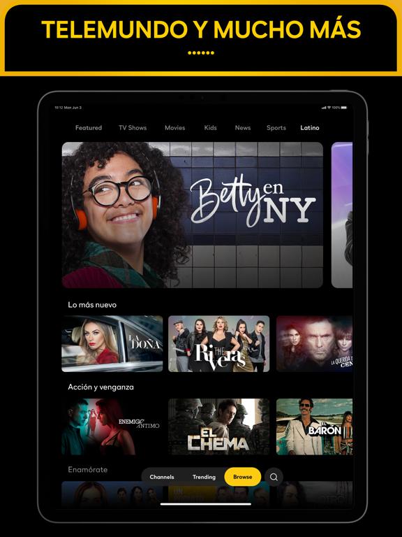 iPad Image of Peacock TV