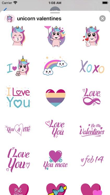 Unicorn Valentine Sticker
