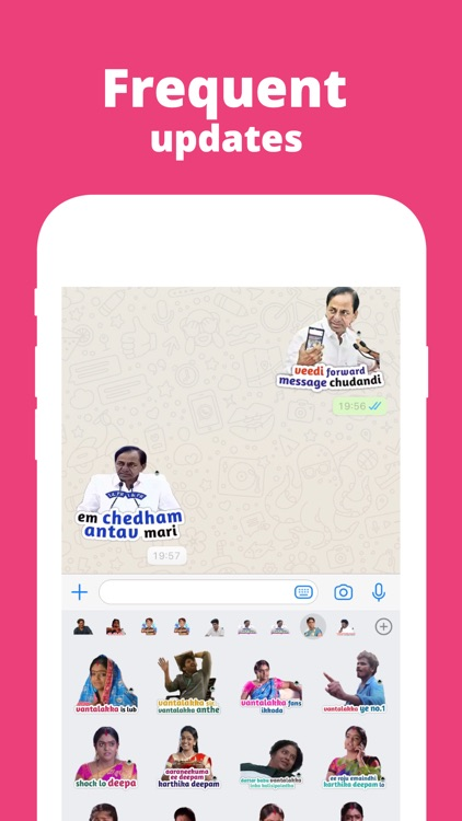 Sticker Babai: Telugu Stickers screenshot-3