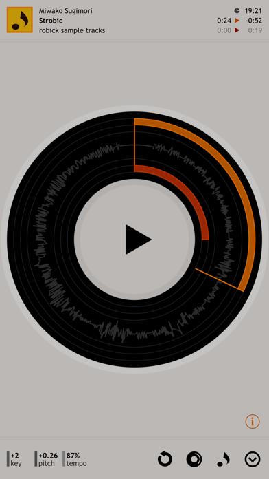 robick Audio Player screenshot one