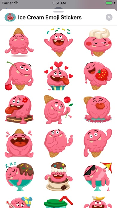 Ice Cream Emoji Stickers screenshot #2