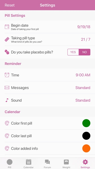Screenshot for BC Pill Reminder in Kazakhstan App Store