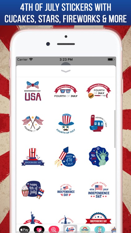 4th Of July Greeting Stickers screenshot-3
