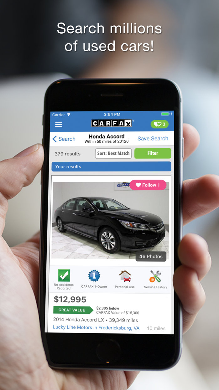 CARFAX Find Used Cars for Sale Screenshot