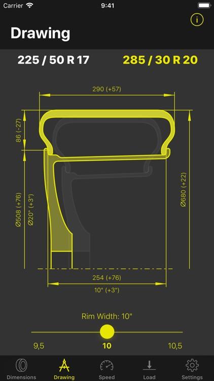 Tyre Dimensions screenshot-3