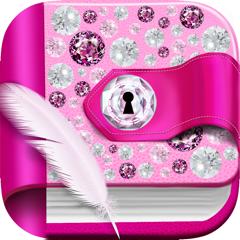 Diamond Diary Notes With Lock