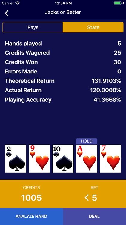 Video Poker - Wizard of Odds screenshot-3