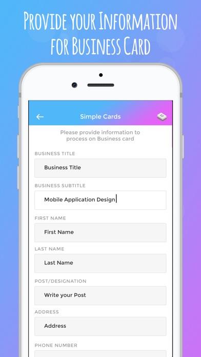 Screenshot 2 Pour Fabricant De Carte Visite