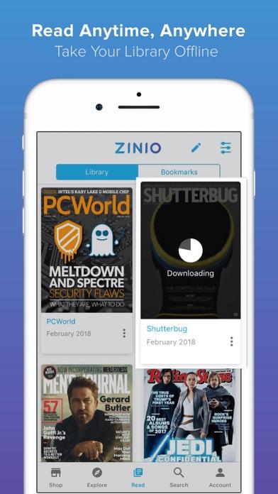 ZINIO - マガジンニューススタンドスクリーンショット