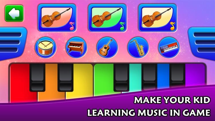Kids learn music instruments