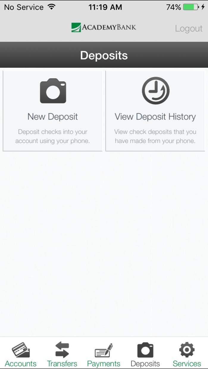 Academy Bank Screenshot