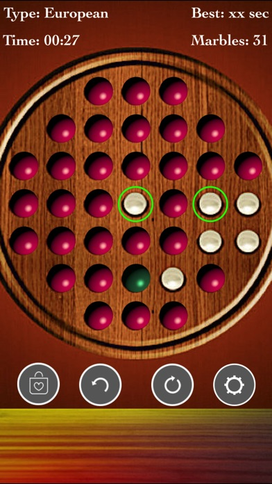 Brainvita Peg Solitaire~ screenshot 1