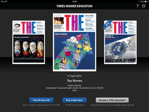 Screenshot of Times Higher Education (THE)