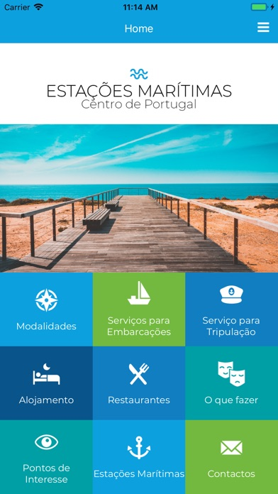 Screenshot of Estações Marítimas App