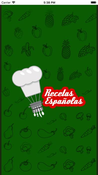 Recetas Espanolas screenshot one